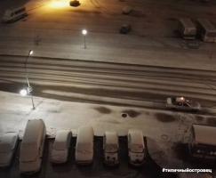 Первый снег в Островец 25.10.2017 #типичныйостровец
